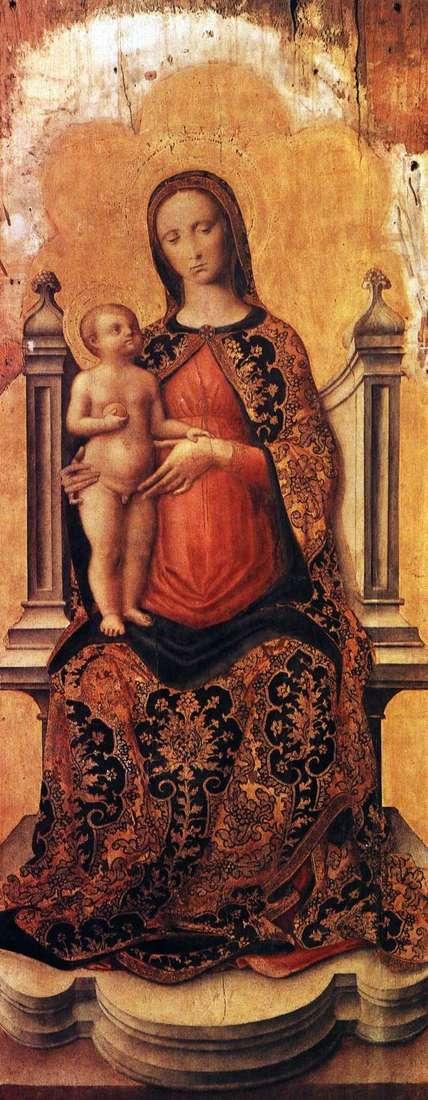王位の赤ちゃんとマリア   Antonio Vivarini