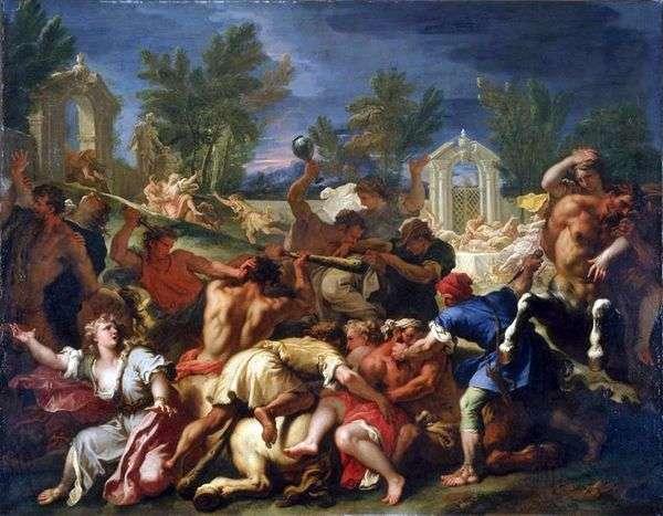 ケンタウロスとのラピスの戦い   Sebastiano Ricci