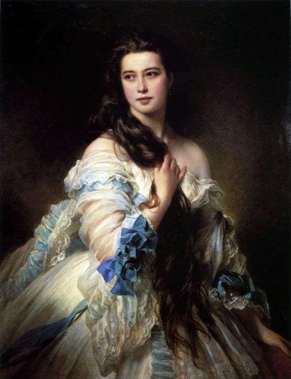 V. D. Rimskaya Korsakova   Franz Xaver Winterhalterの肖像