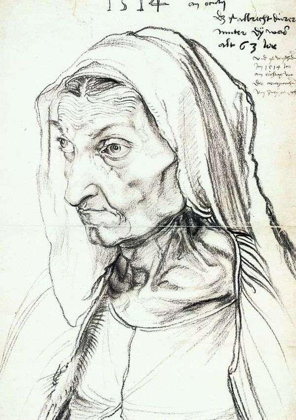 母の肖像   アルブレヒトデューラー