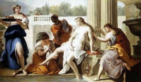 お風呂でバテシバ   Sebastiano Ricci