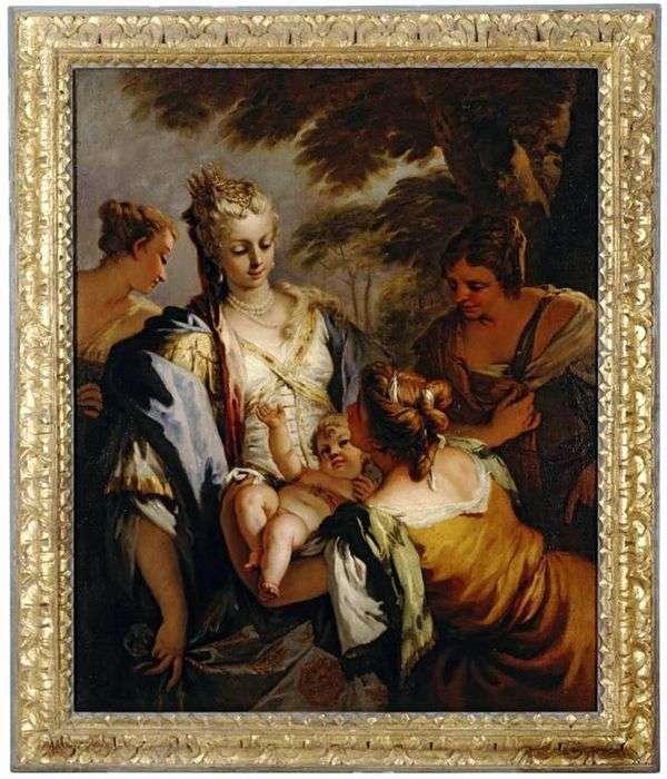 赤ちゃんモーセを引き渡す   Sebastiano Ricci