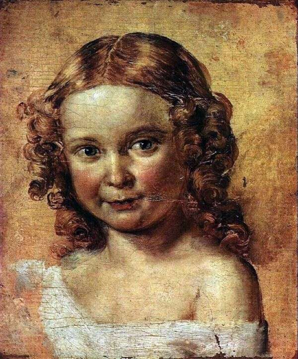 少女の頭(エルショバと娘の肖像のための研究)   ヴァシリートロピニン
