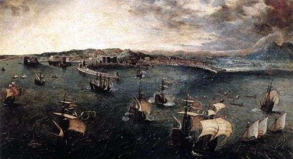 ナポリ港での戦艦   Peter Bruegel