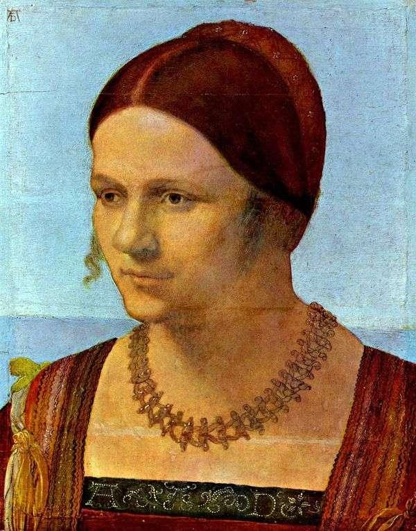 若い女性の肖像   アルブレヒトデューラー