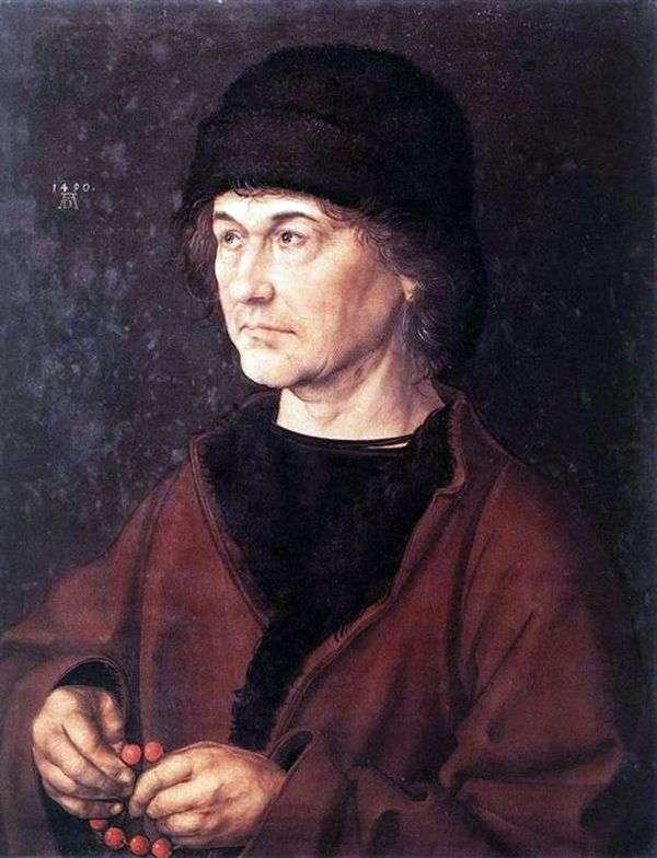 アーティストの父親の肖像   Albrecht Durer