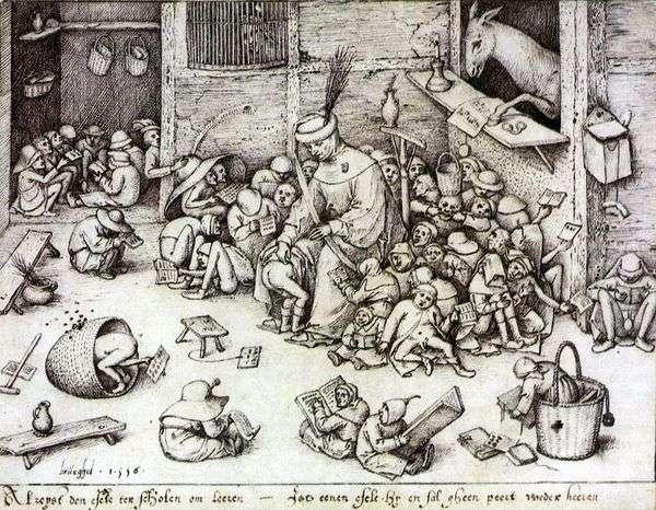 学校でのロバ   Peter Bruegel