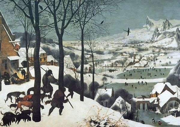 雪の中のハンター   Peter Bruegel