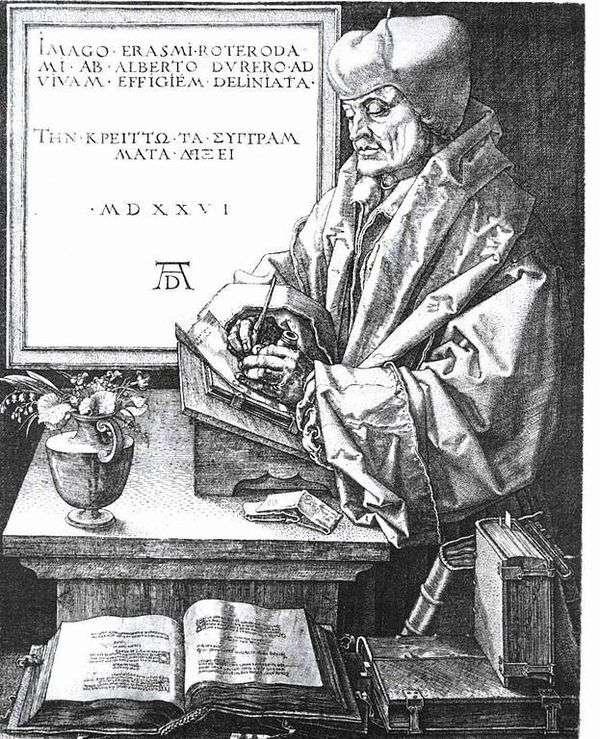 ロッテルダム   アルブレヒトデューラーのエラスムスの肖像画