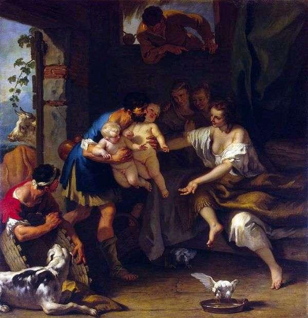 ロムルスとレムスの幼児期   Sebastiano Ricci