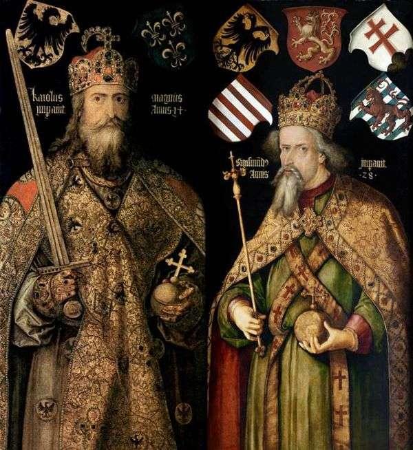 皇帝チャールズとジギスムンドの肖像   Albrecht Durer