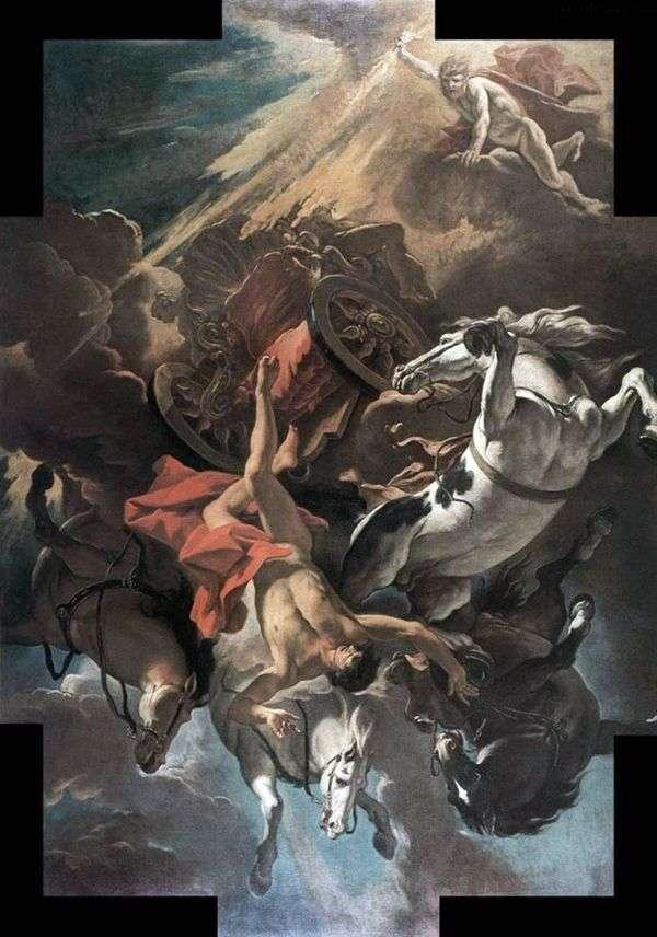 フェートンの堕落   Sebastiano Ricci