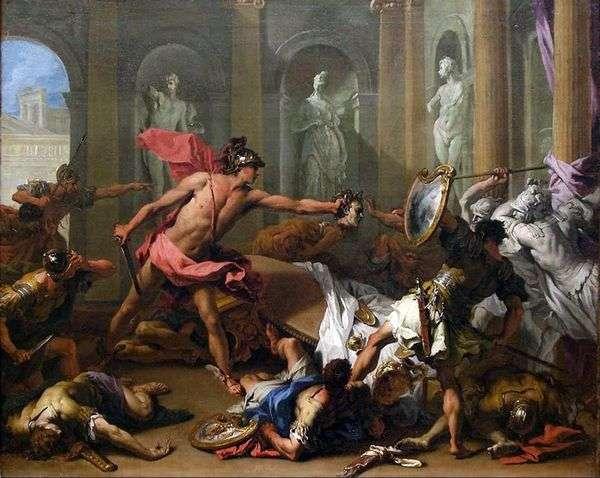 ペルセウスはフィニアスを石に変える   Sebastiano Ricci