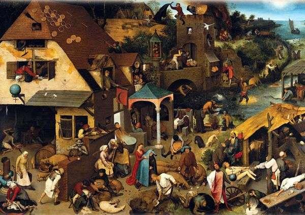 ことわざ(青いマント)   Peter Bruegel