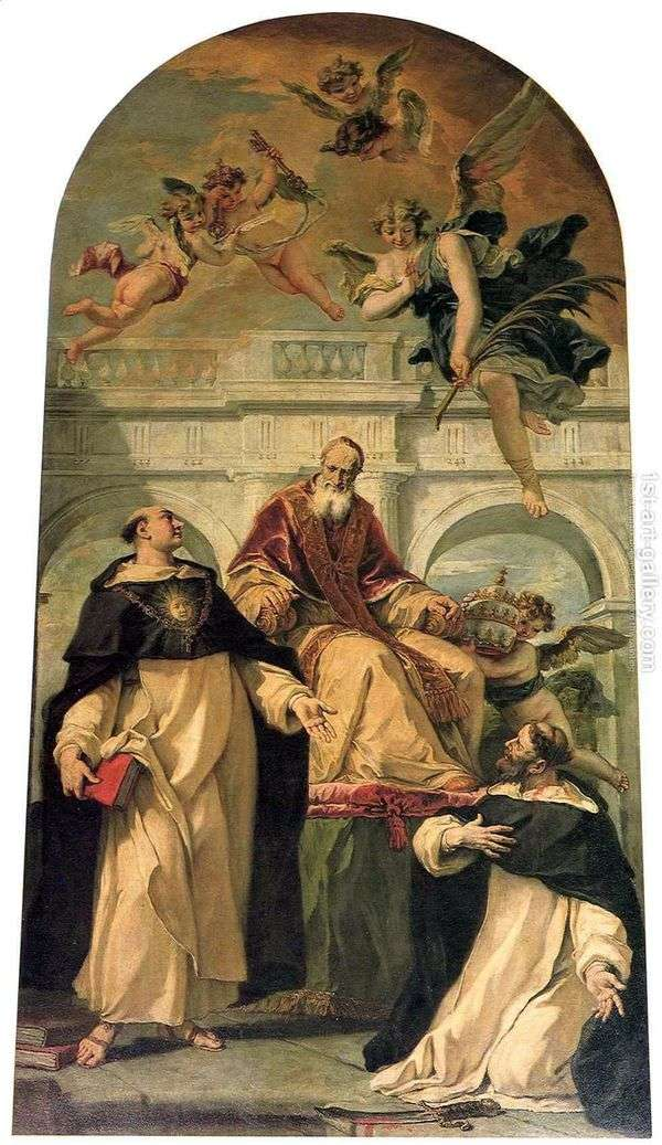 ピウスV、聖人ピーターとトーマスアクィナス   Sebastiano Ricci