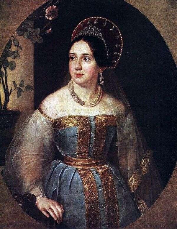 E. I. Karzinkina   Vasily Tropininの肖像画