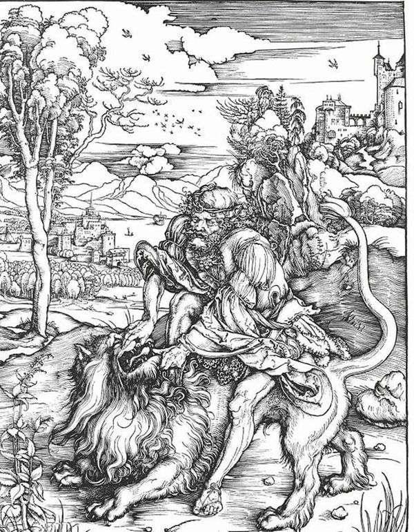 ライオンスレイヤーのサムソン   Albrecht Durer