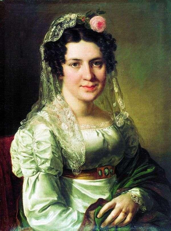Elena Dmitrievna Shchepkina   ヴァシリー・トロピニンの肖像画