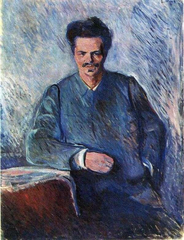 アウグストゥスストリンバーグ   エドヴァルド・ムンクの肖像