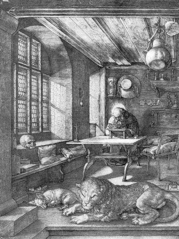 セントジェロームインザセル   Albrecht Durer