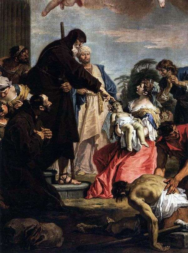 聖フランシスの奇跡   セバスティアーノリッチ