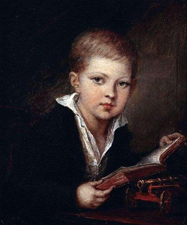 王子の肖像 子供としてのM. A. Obolensky   Vasily Tropinin