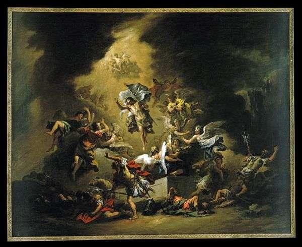 キリストが天使と共に現れる   Sebastiano Ricci