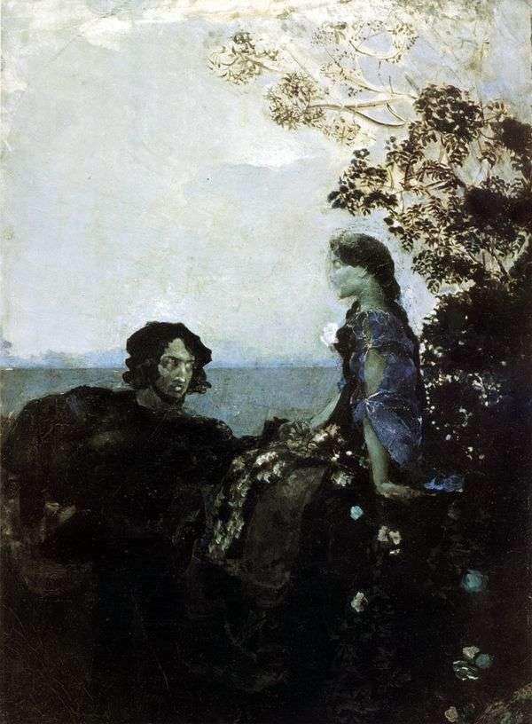 ハムレットとオフィーリア   ミハイルヴルベル