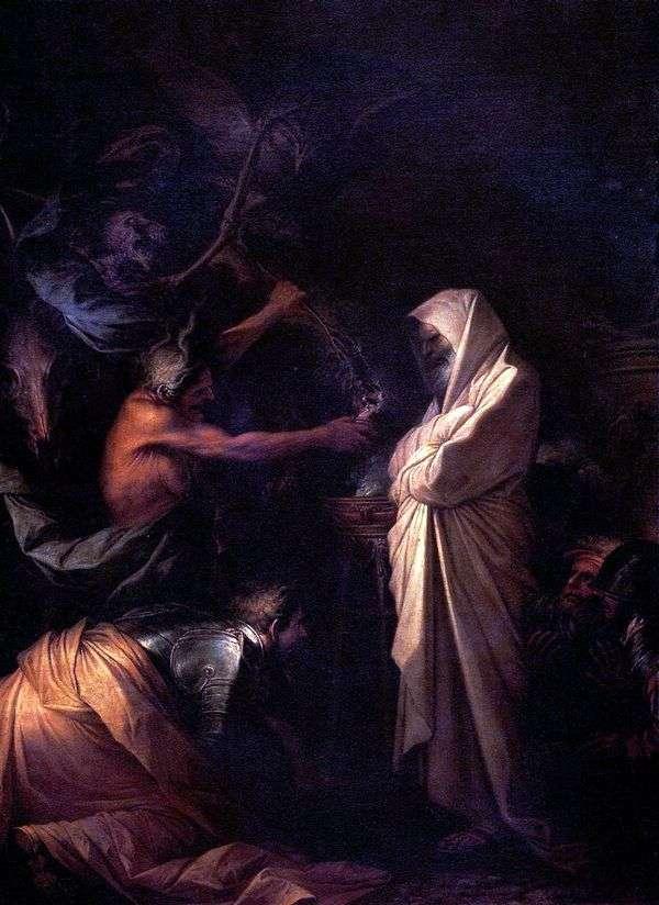 サミュエルの霊が先祖の魔術師によってソールと呼ばれる   Salvatore Rosa