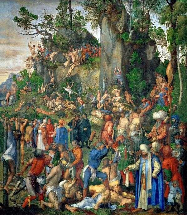 1万人のクリスチャンの殺害   Albrecht Durer