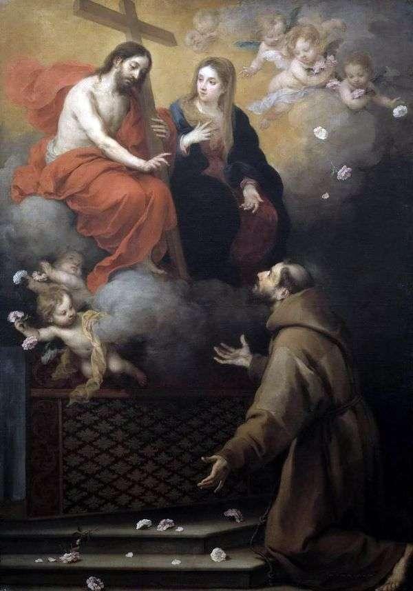 聖フランシスコのビジョン   Bartolomeo Esteban Murillo