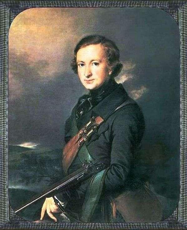 狩猟スーツの中のYu F. F. サマリンの肖像   Vasily Tropinin