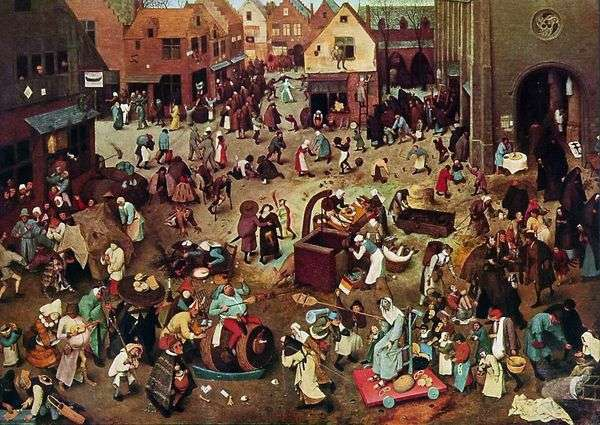 カーニバルと断食   Peter Bruegel
