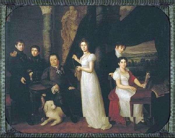 モルコフ   ヴァシリートロピニンの家族の肖像画