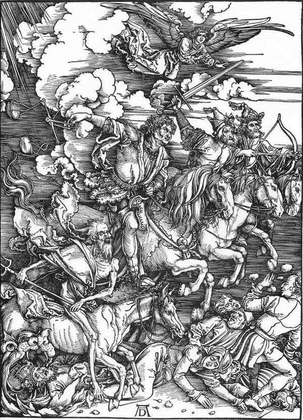 黙示録の4人の騎士   Albrecht Durer