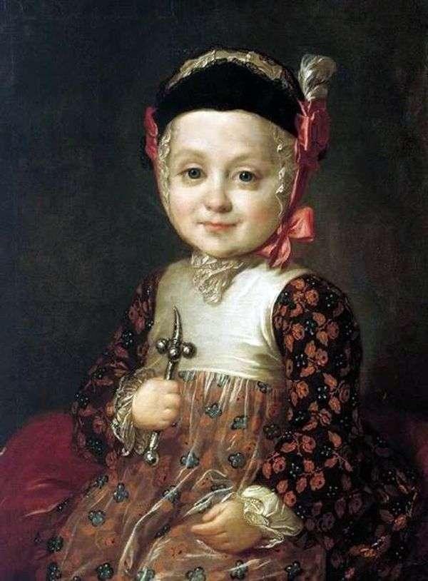 小児期におけるA. G. Bobrinskyの肖像   Fedor Rokotov