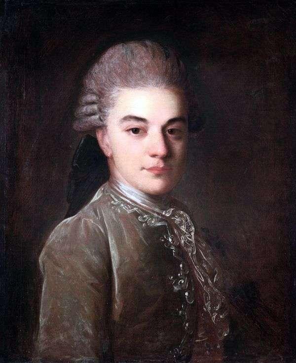 青年期のA. M。リムスキー=コルサコフの肖像   Fedor Rokotov