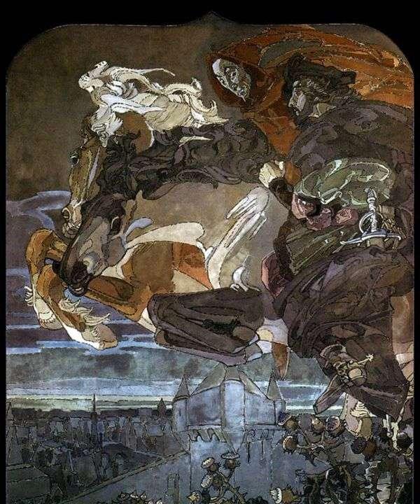 ファウストと両生類の飛行   Mikhail Vrubel