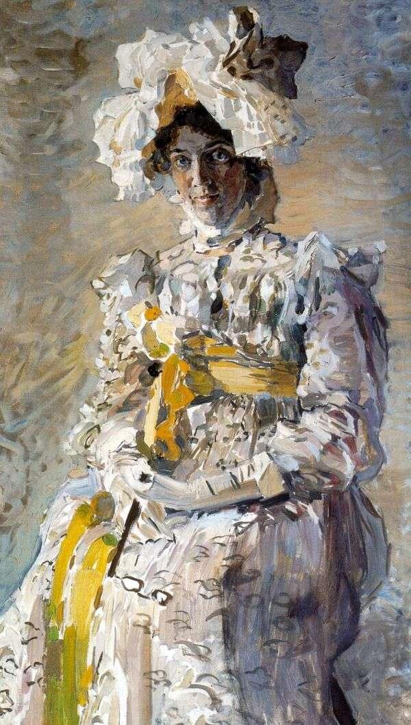 夏のトイレ「帝国」の女優N. I. Zabela Vrubel、アーティストの妻の肖像   Mikhail Vrubel