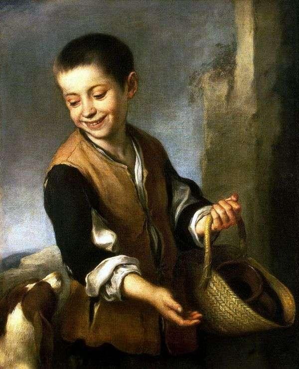 犬を連れた少年   バルトロメエステバンムリリョ
