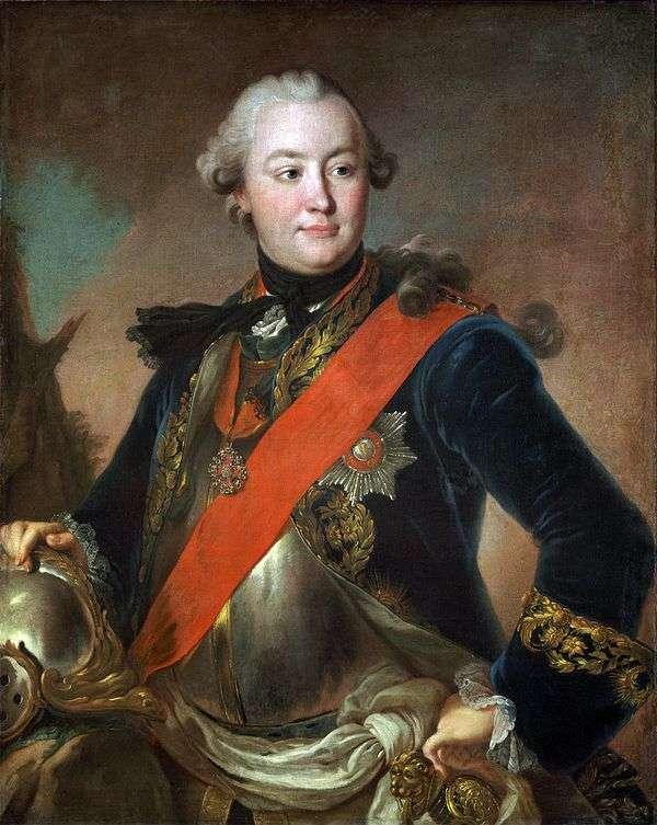 ラットのカウントG. オルロフの肖像   Fedor Rokotov