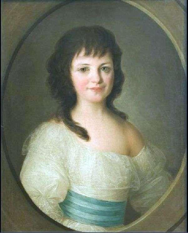 子としての伯爵P. A. Vorontsovaの肖像   Fyodor Rokotov