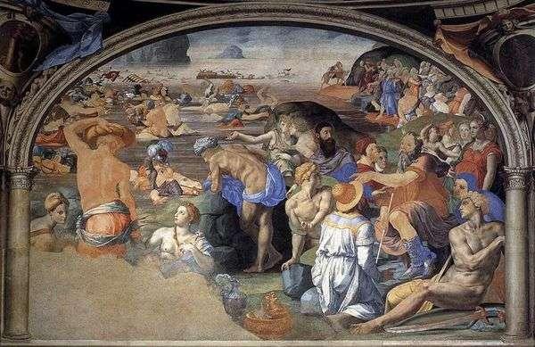 紅海を渡る   Agnolo Bronzino