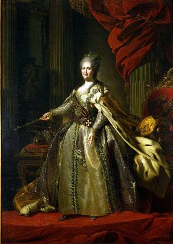 キャサリン2世皇后の肖像   Fedor Rokotov