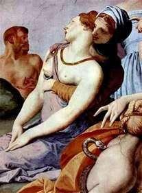 青銅の蛇(フレスコ画)とクロスの崇拝   Agnolo Bronzino