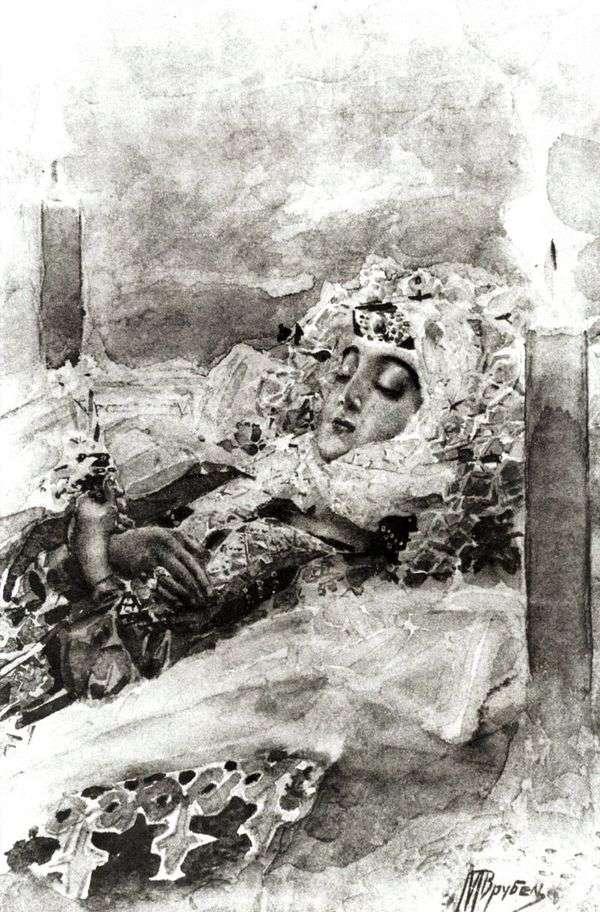 棺の中のタマラ   Mikhail Vrubel
