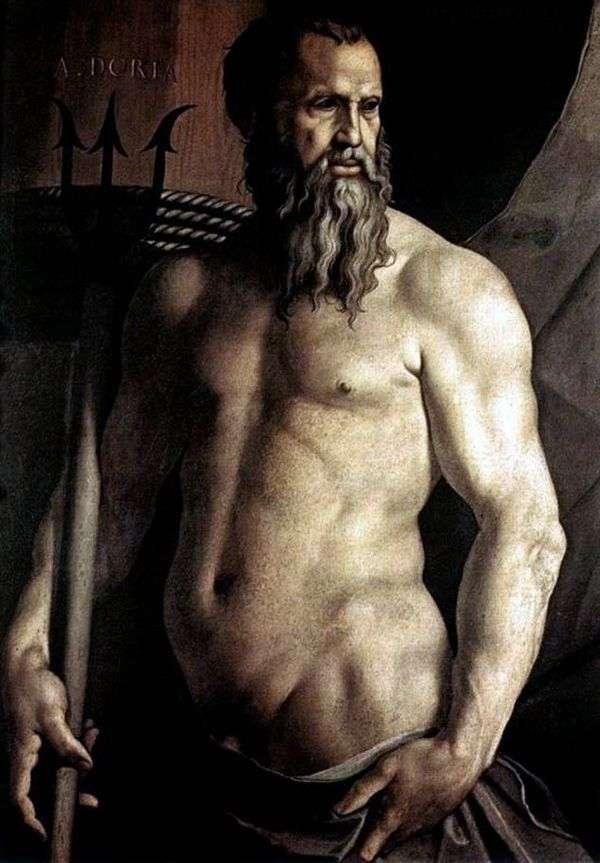 ネプチューン   Agnolo Bronzinoの形でAndrea Doriaの肖像