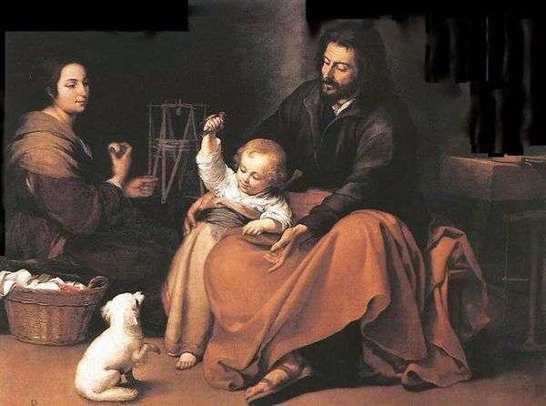 鳥と神聖な家族   バルトロメエステバンムリーリョ