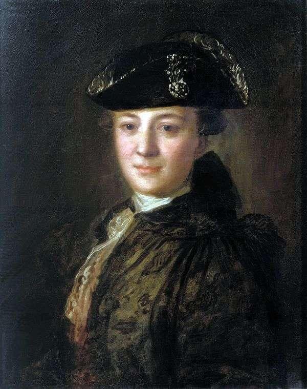 コックのついた帽子の未知の肖像   Fedor Rokotov