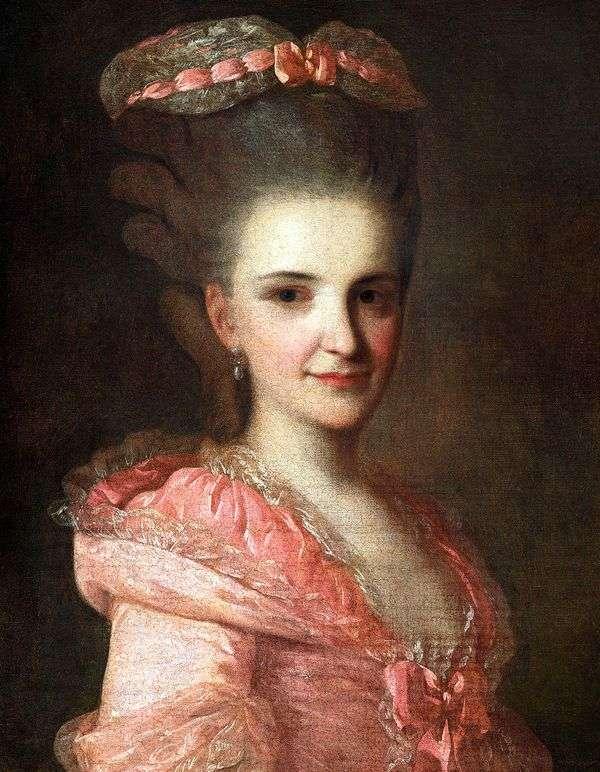 ピンクのドレス   Fedor Rokotovの未知の女性の肖像画